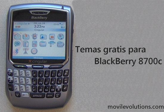 Temas gratis para BlackBerry 8700c