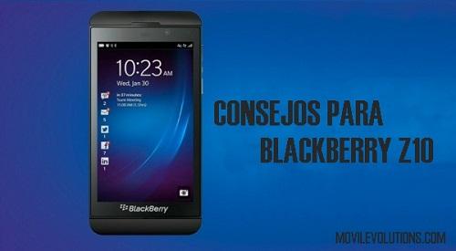 consejos para BlackBerry Z10