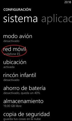 configurar tu dispositivo Windows Phone