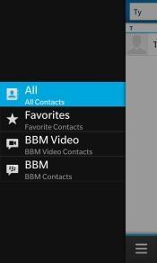 manejar correctamente los contactos desde el BlackBerry Z10