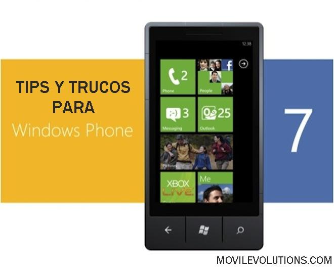 Tips y trucos para Windows Phone 7