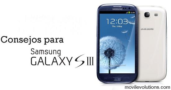 Consejos para Samsung Galaxy S III