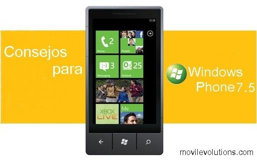 Consejos para Windows Phone 7.5