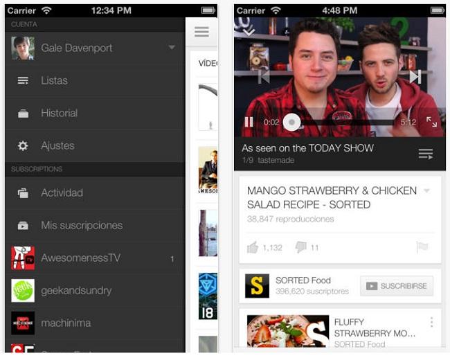 YouTube para iOS