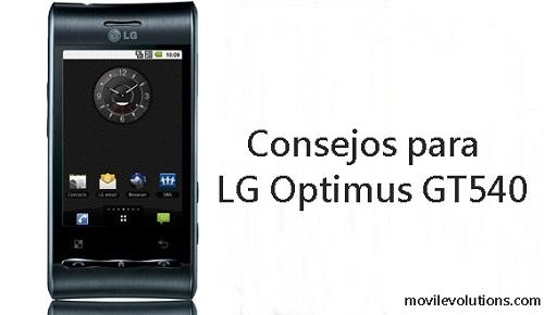 Consejos para LG OPTIMUS GT540