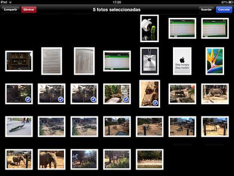 Ajuntar fotos mediante un iPAD