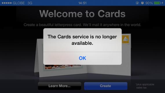 Cards para iOS