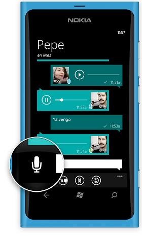 Mensajería de voz de WhatsApp