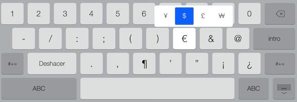 Teclado iOS 7-2