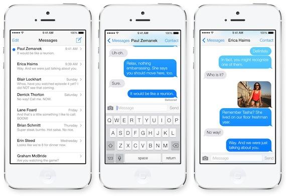 iMessage en iOS 7