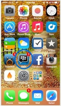 identificar el Pin blackberry
