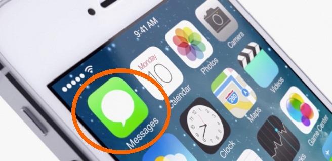 App de Mensajes iOS 7