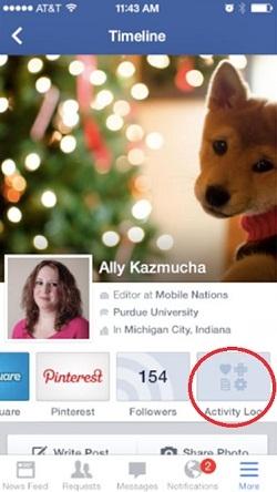 Revisar registro de actividad de facebook5
