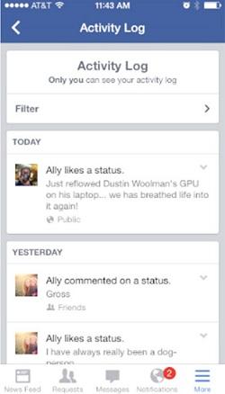 Revisar registro de actividad de facebook6