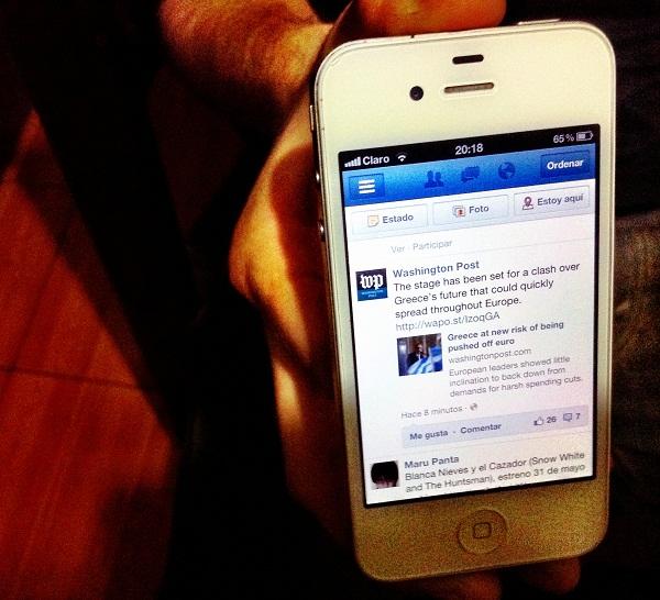 Revisar registro de actividad de facebook
