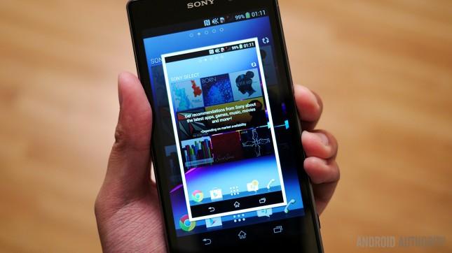 captura de pantalla en el Sony Xperia Z1