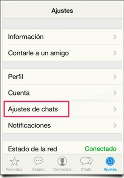 copia de seguridad de tus Chats de WhatsApp
