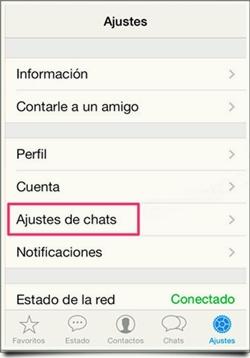 copia de seguridad de tus Chats de WhatsApp