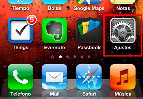 datos móviles del iphone
