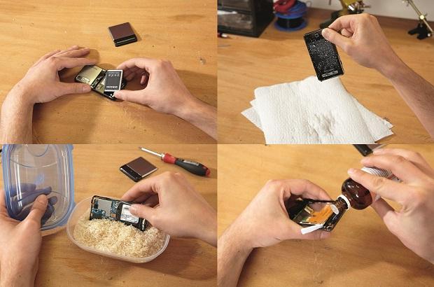 Como secar un telefono celular mojado 1