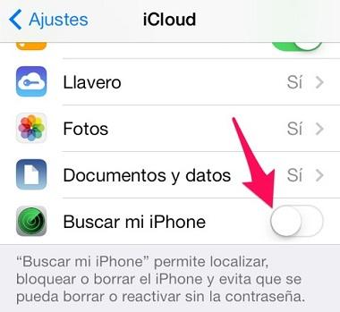bloqueo de activación para proteger el iPhone