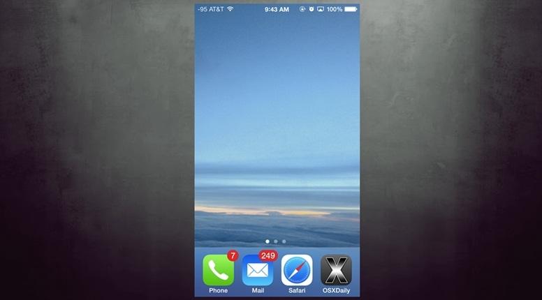 crear una pantalla de inicio vacía en el iPhone o iPad