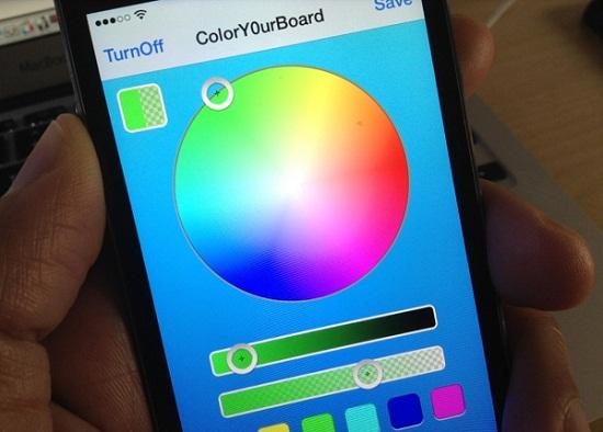 ColorY0urBoard para iOS-