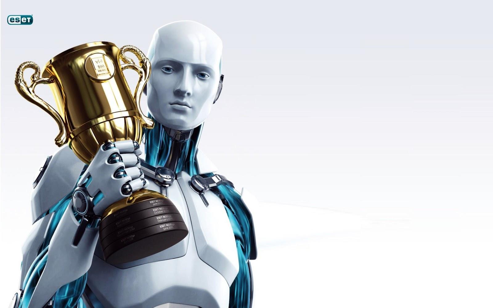 Eset_Nod32_Antivirus_3D_Robot_Holding_Cup_HD_Wallpaper-Vvallpaper.Net