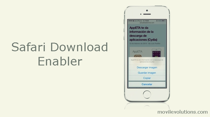 Safari Download Enabler para iOS 7
