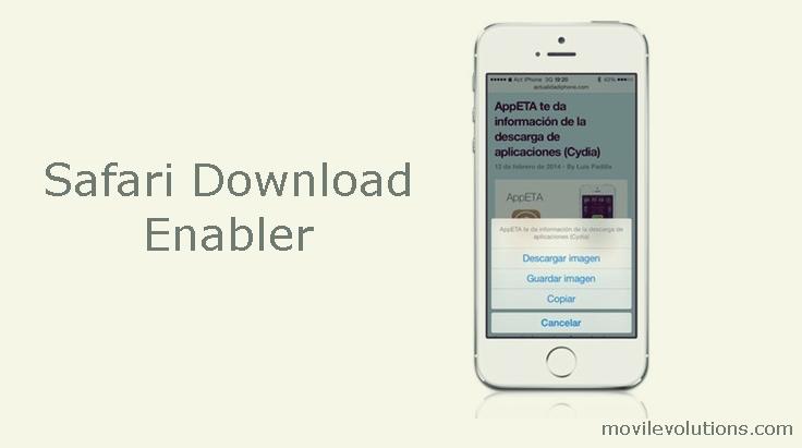 Safari Download Enabler para iOS 7
