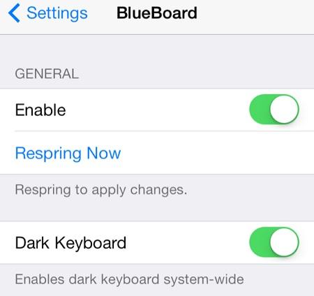 añadir un teclado azul para iOS-