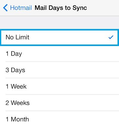 configurar mi cuenta de Hotmail con el iPhone2