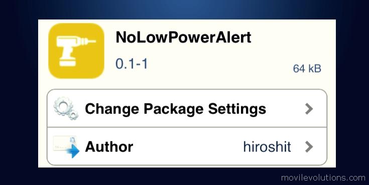desactivar las alertas de baja potencia