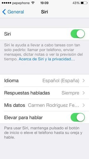Siri para iOS 7.1