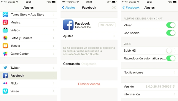 desactivar la reproducción automática de videos en Facebook
