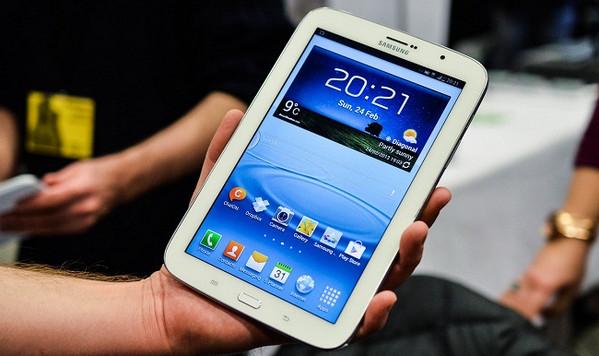 Una tablet pequeña