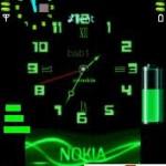 Tema Clock Battery Signal