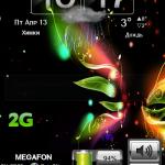 Tema Colorful GO Launcher EX